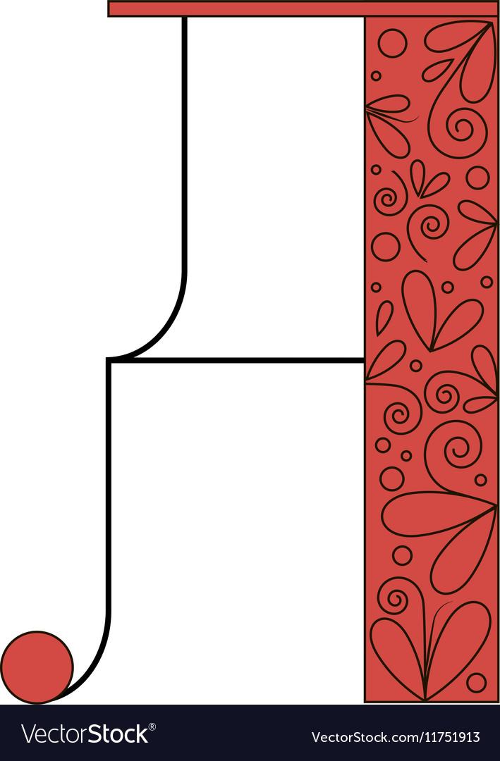 Decorative letter shape A vector image
