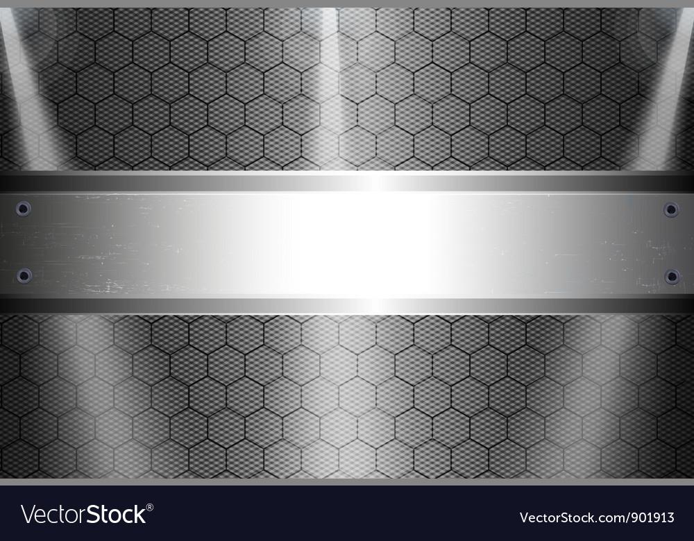 Realistic dark carbon fiber vector image
