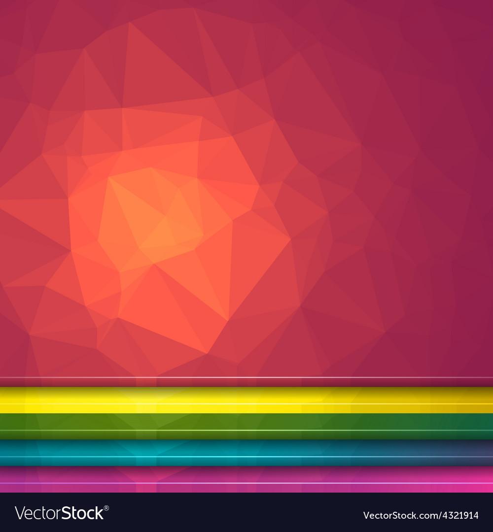 Poligon light effect background vector image