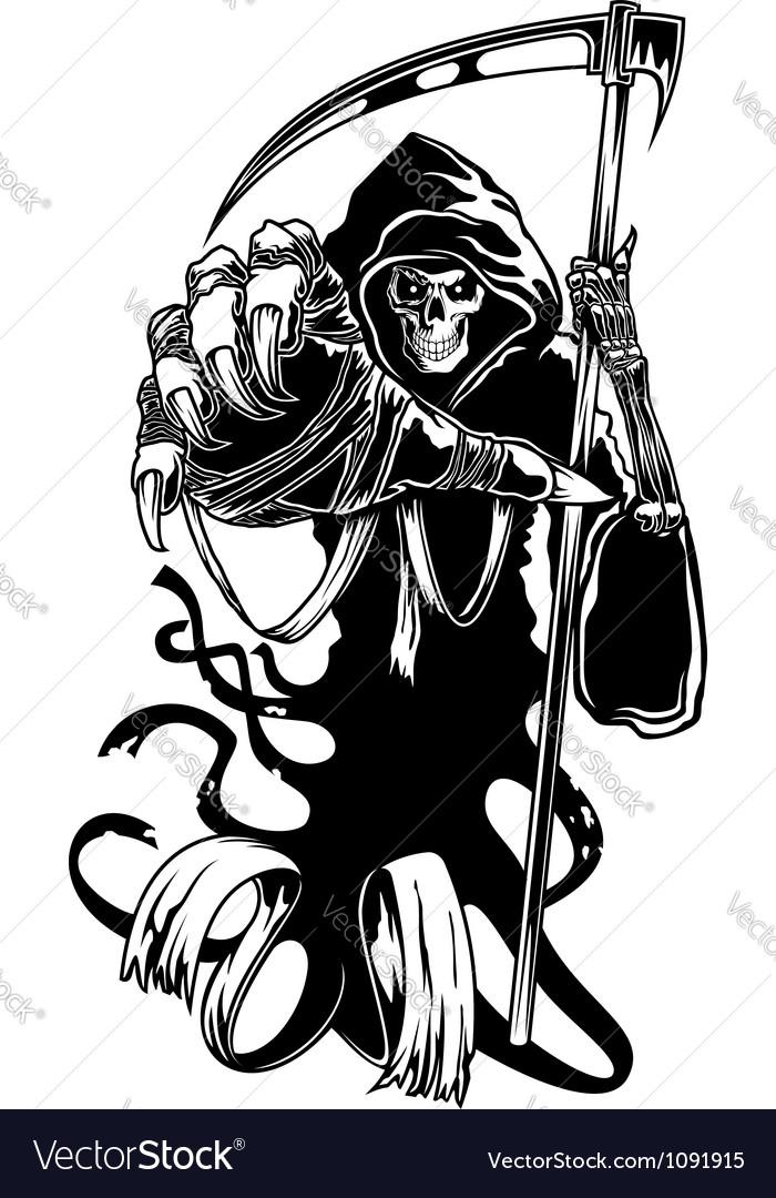 Black death with scythe vector image