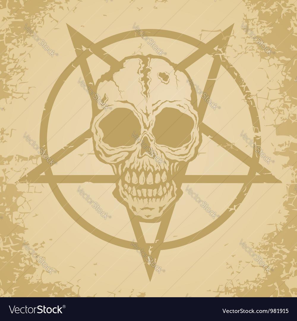 Skull paper vector image