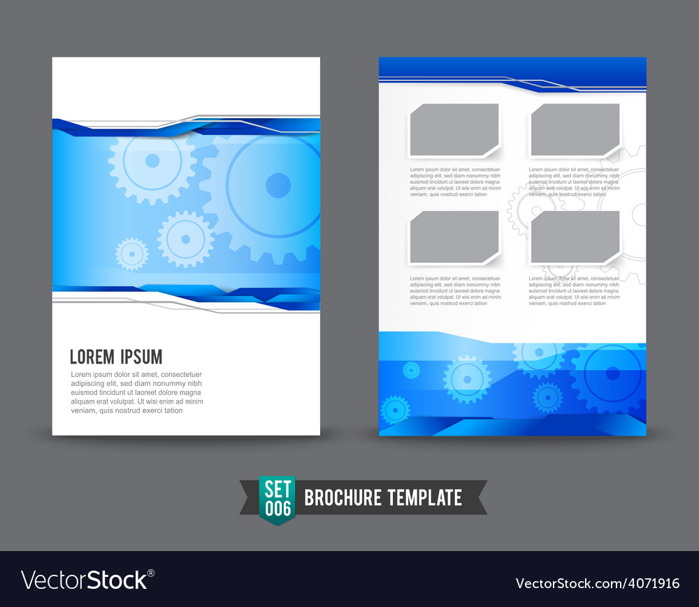 Flyer Brochure background template 0006 Gear vector image