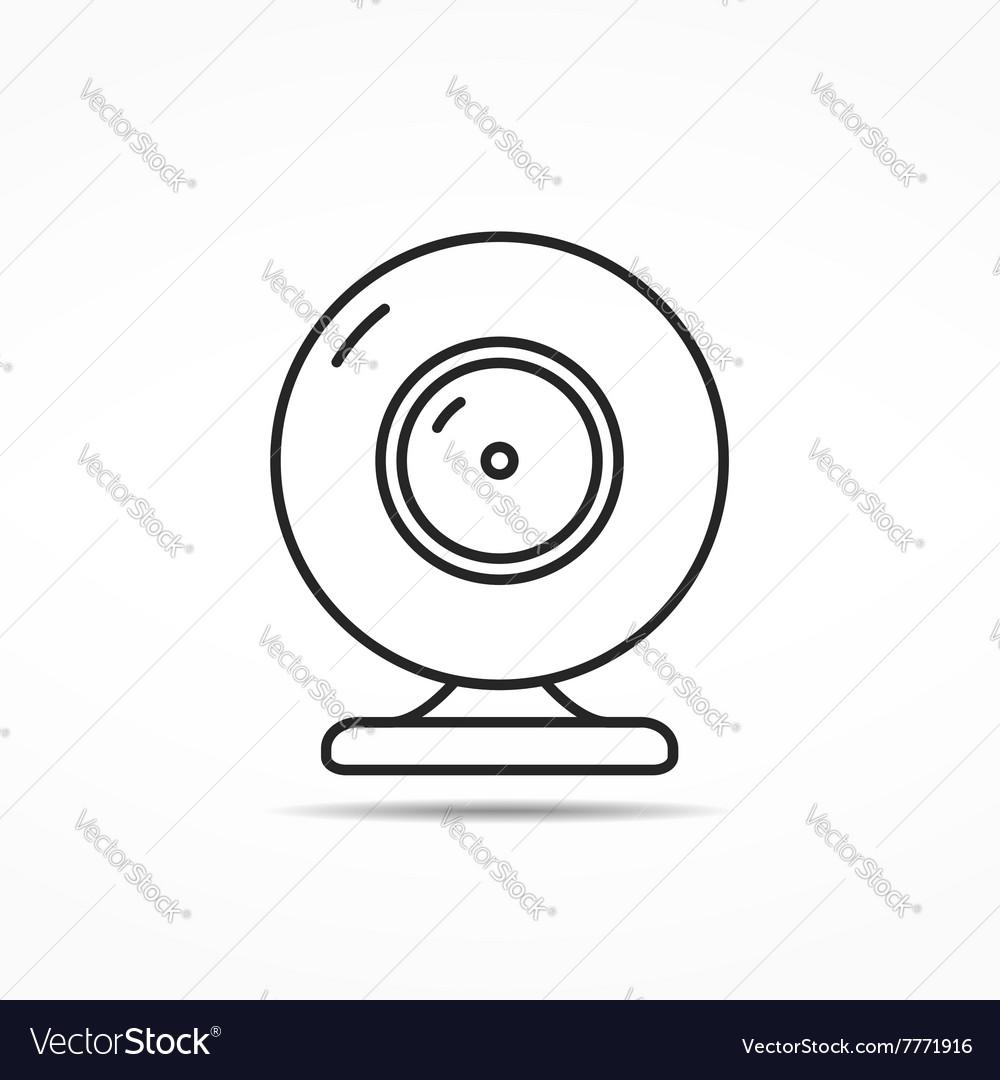 Webcam Line Icon vector image