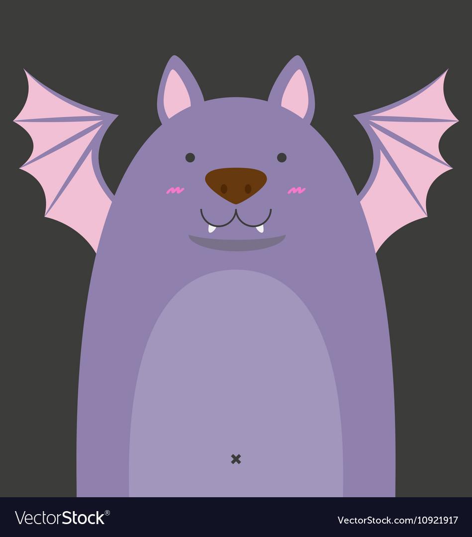 Cute big fat bat vector image