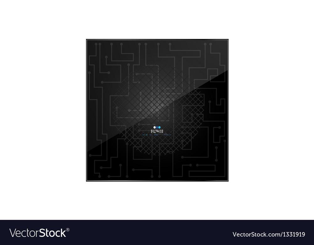 Circuit glossy black pattern vector image
