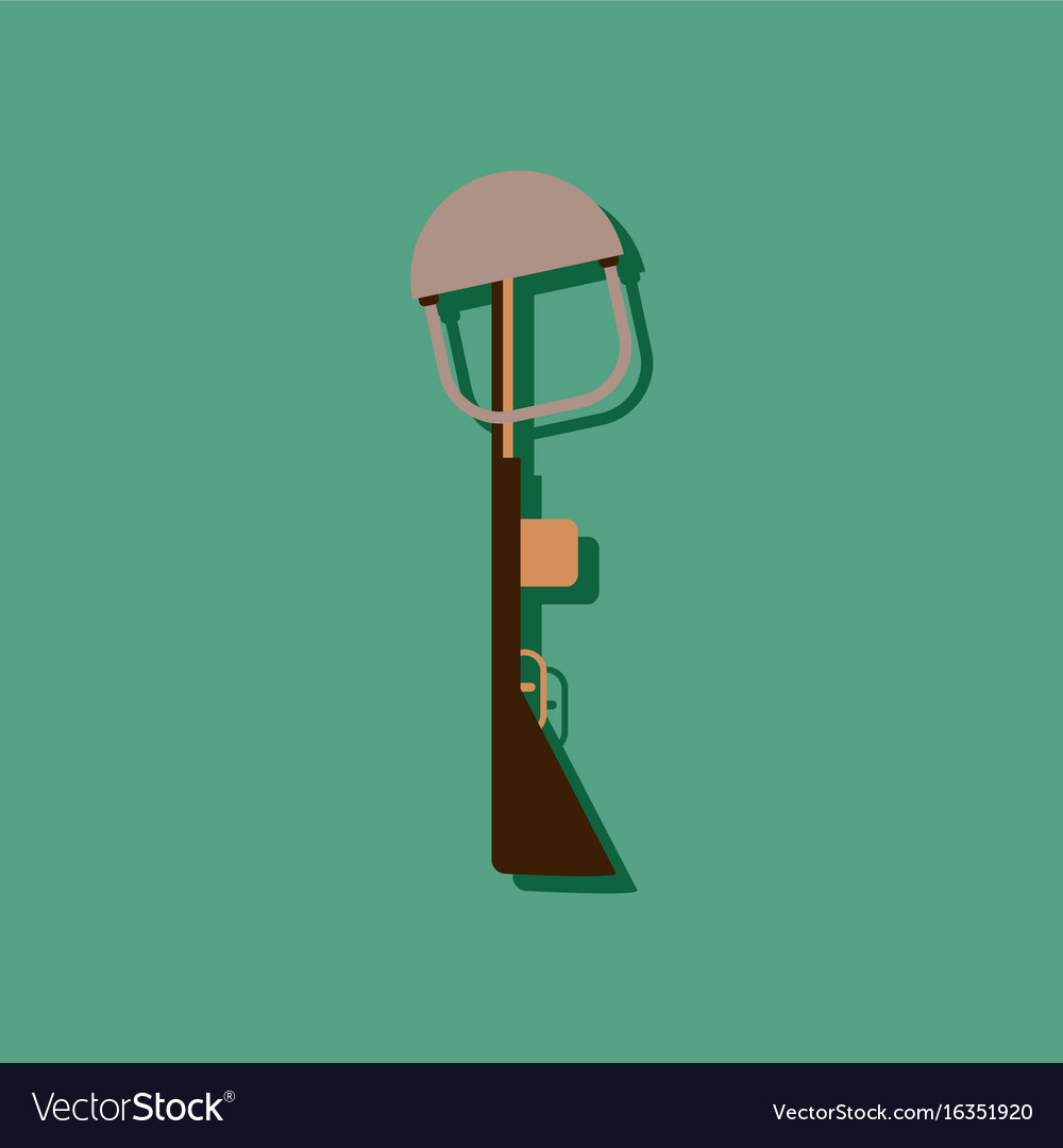 Flat icon design collection military rifle and