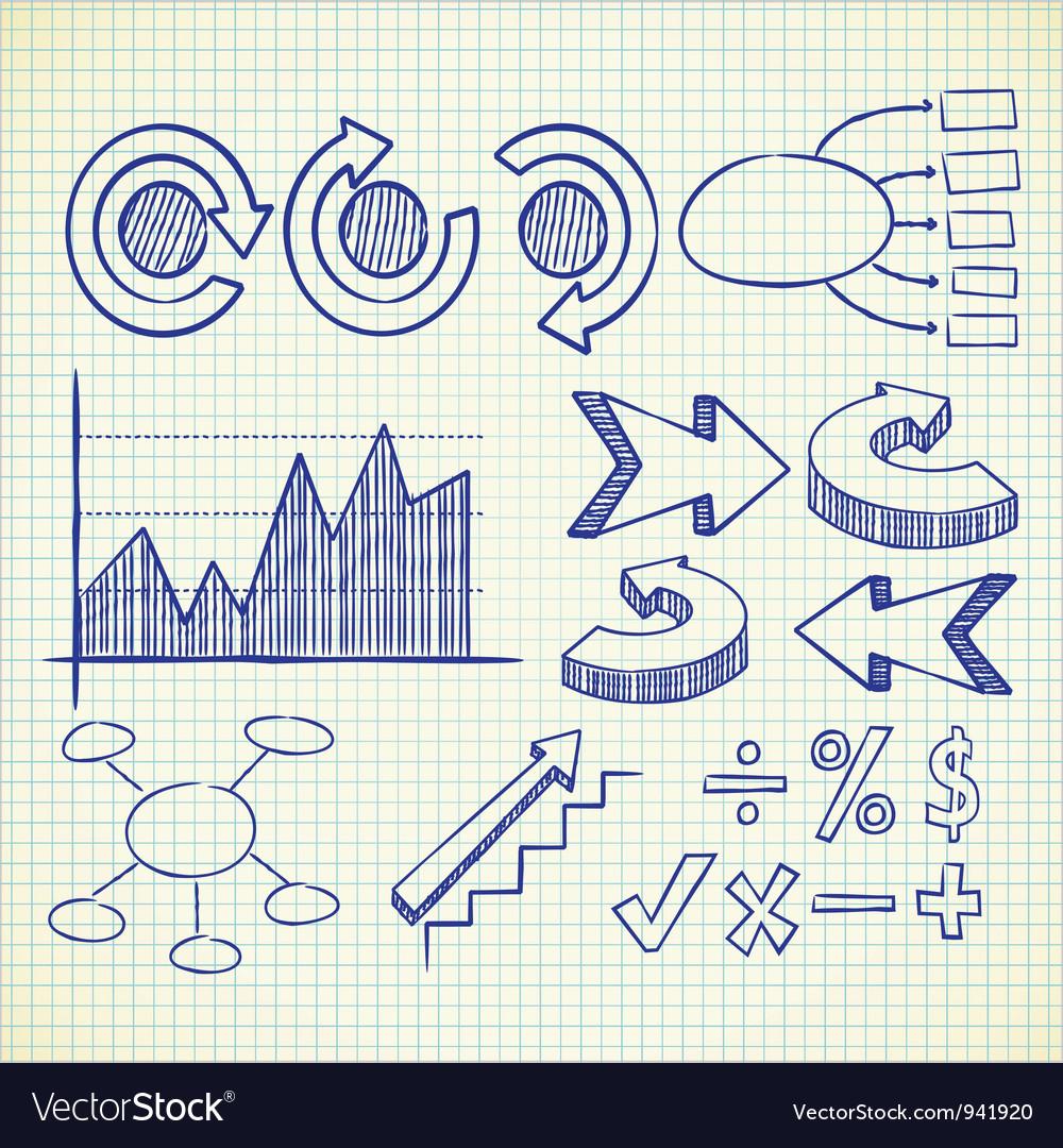 Info chart doodle vector image