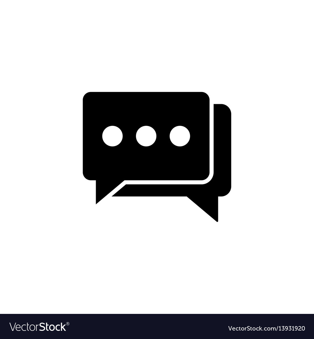 Social engagement solid icon vector image