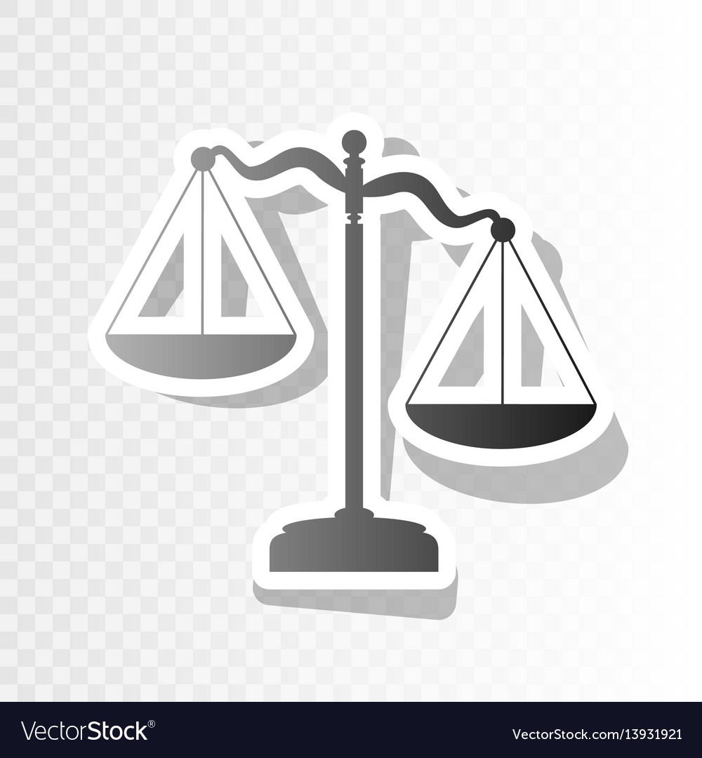 Scales of justice sign new year blackish vector image