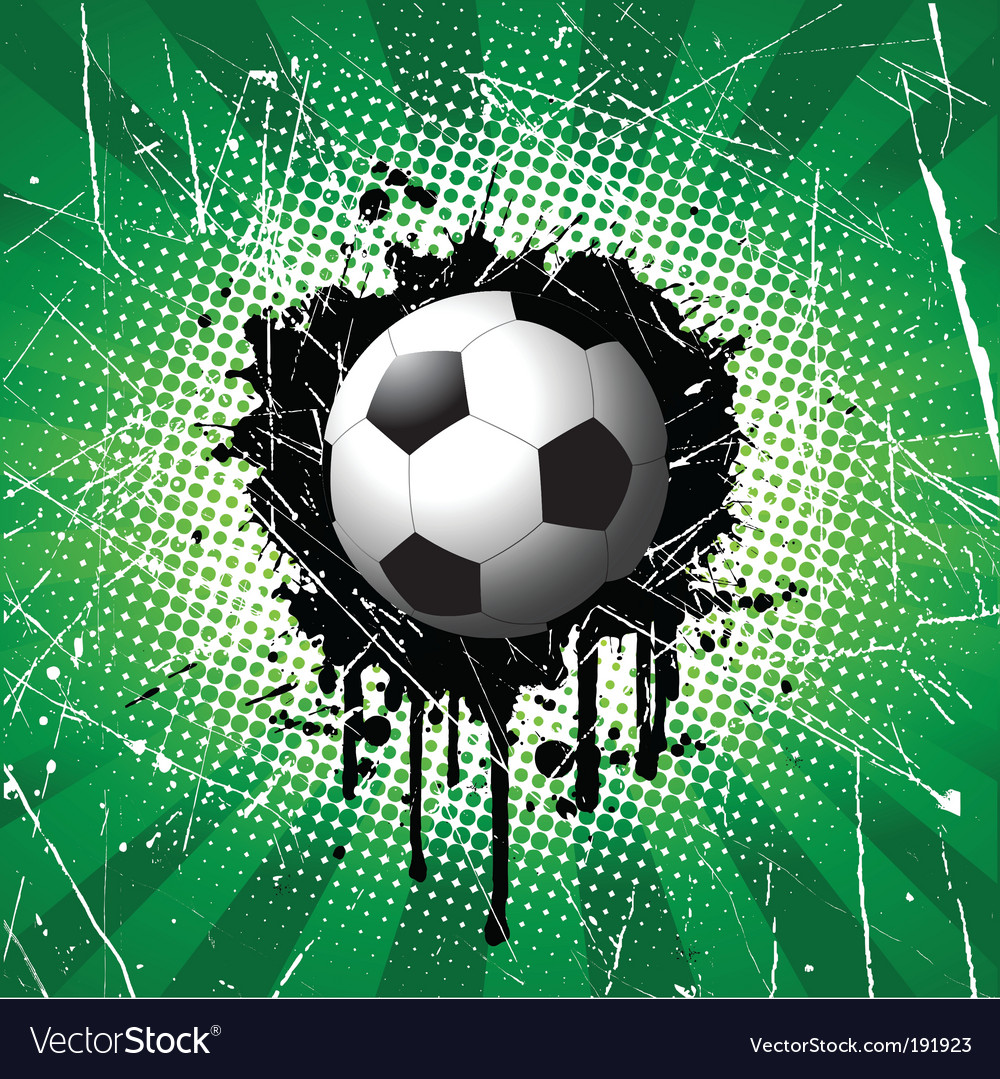 Grunge football vector image