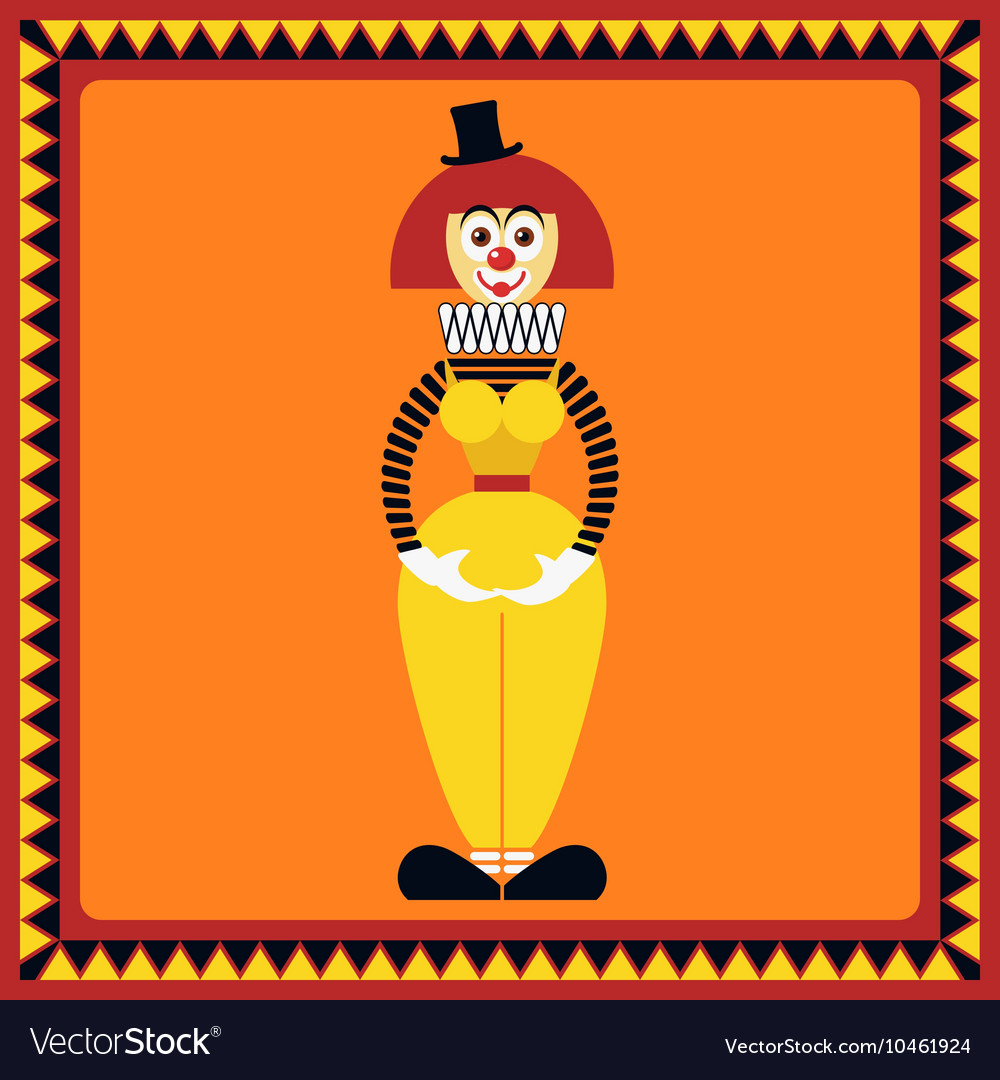 Funny female clown is in beautiful pose vector image
