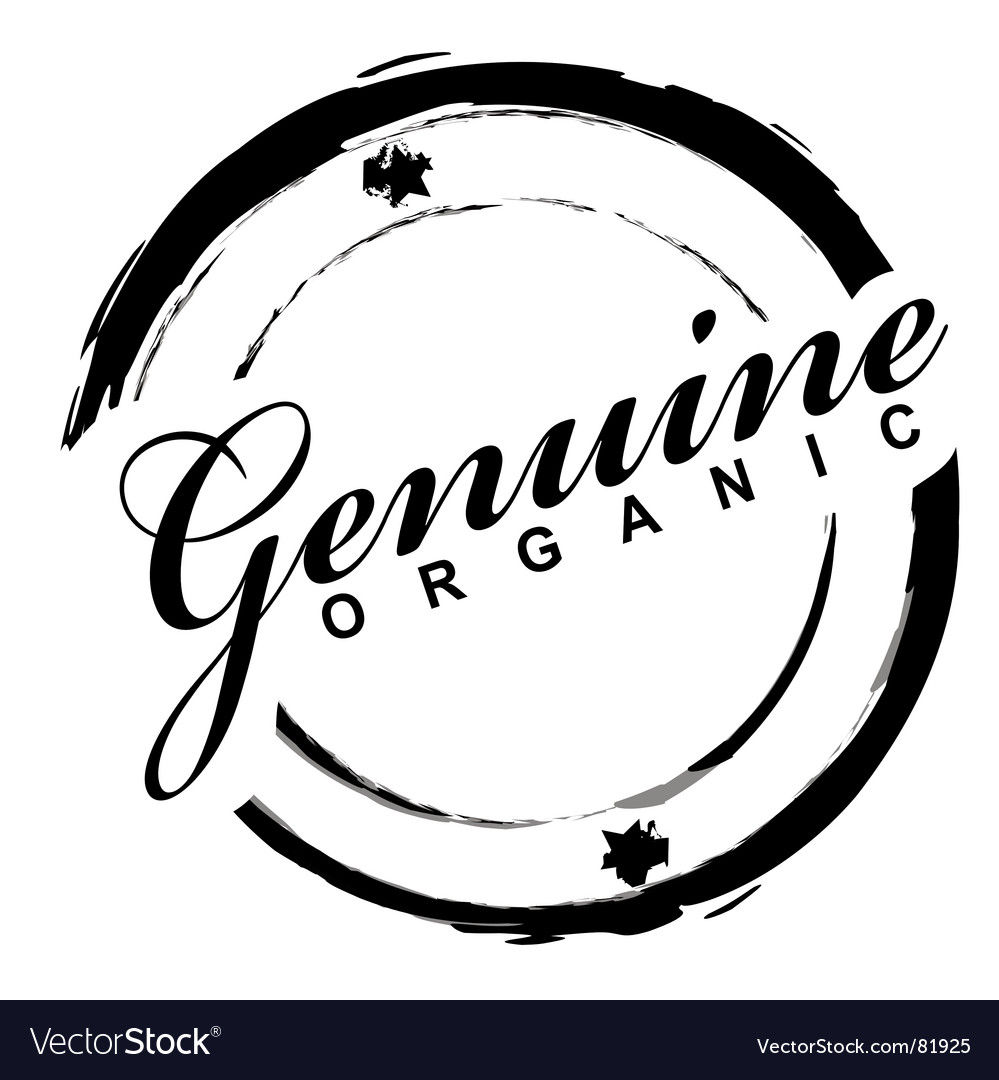 Genuine stamp vector image