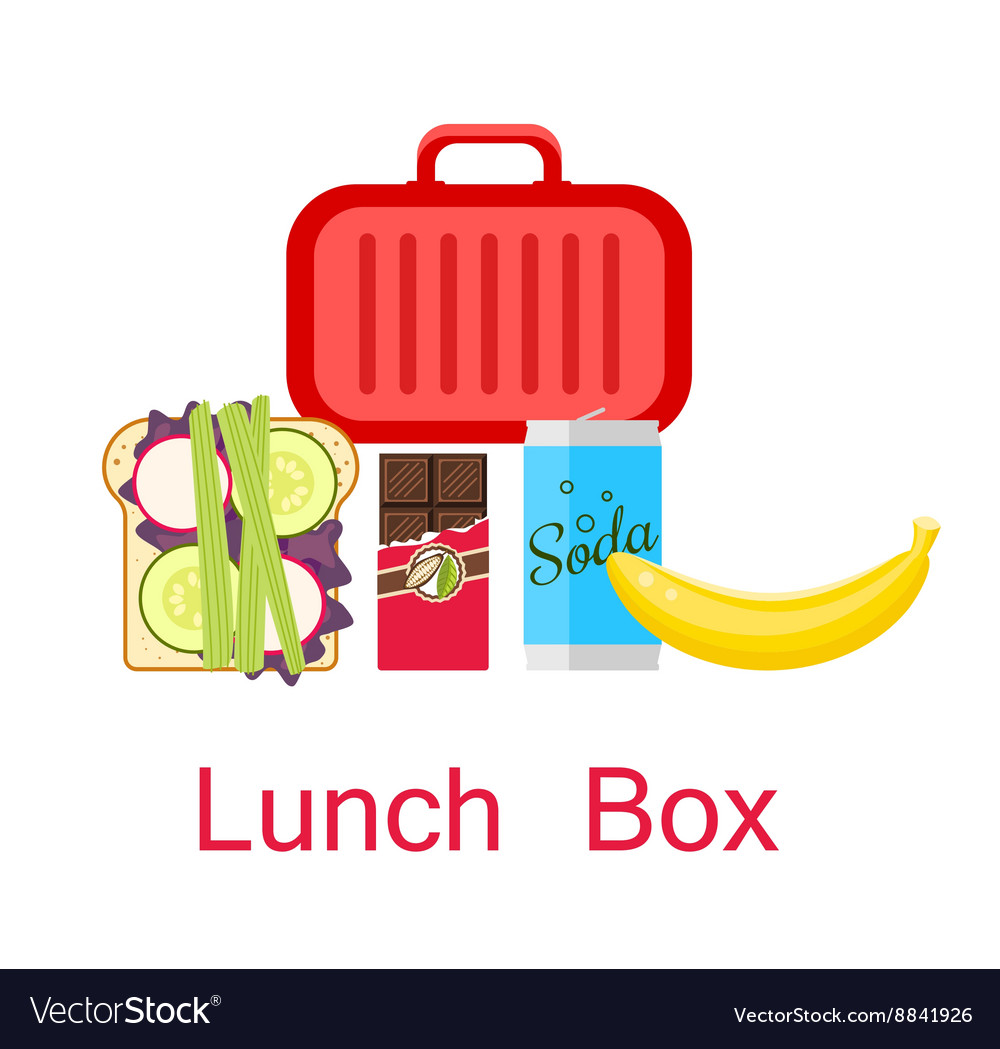 Lunch box vector image