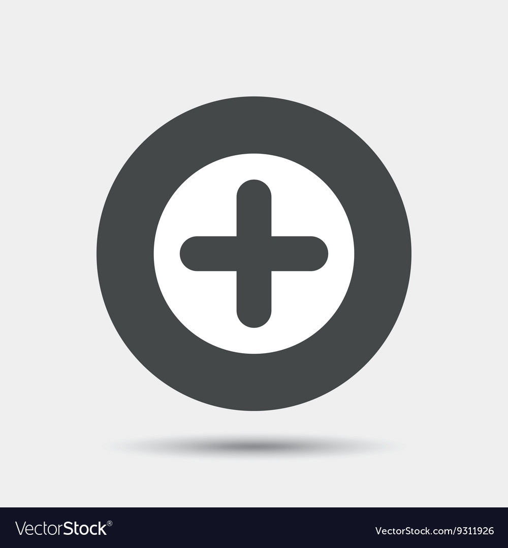 Plus sign icon positive symbol royalty free vector image plus sign icon positive symbol vector image biocorpaavc Choice Image