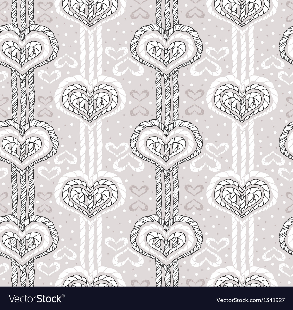 Abstract cute heart pattern vector image
