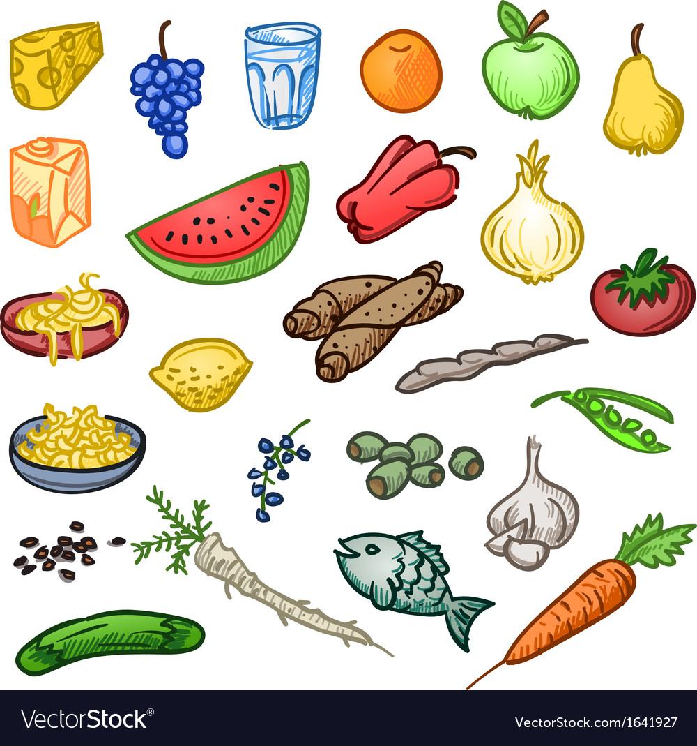 Fresh Healthy Food vector image