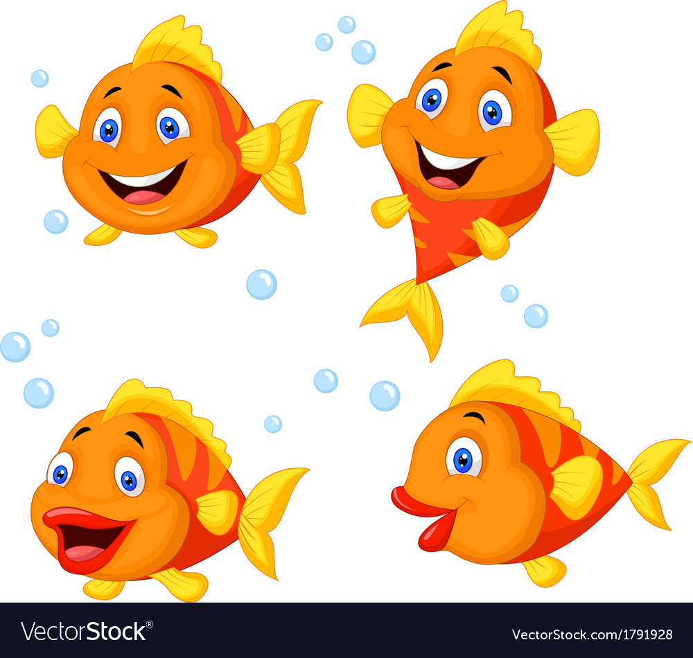Uncategorized Cute Fish Cartoon cute fish cartoon collection set royalty free vector image image