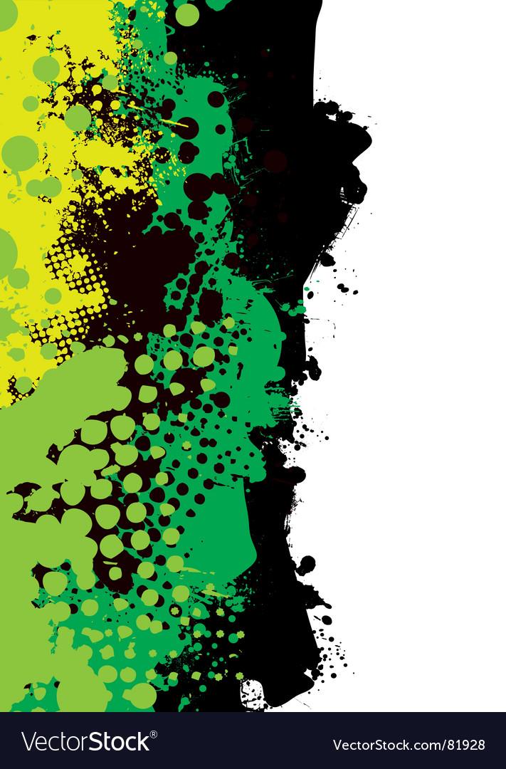 Grunge green splat vector image