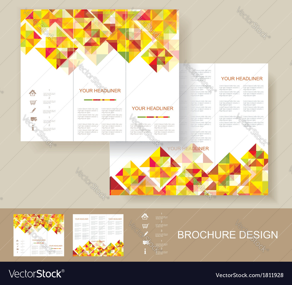 Poster design free template - Print Poster Design Template Vector Image