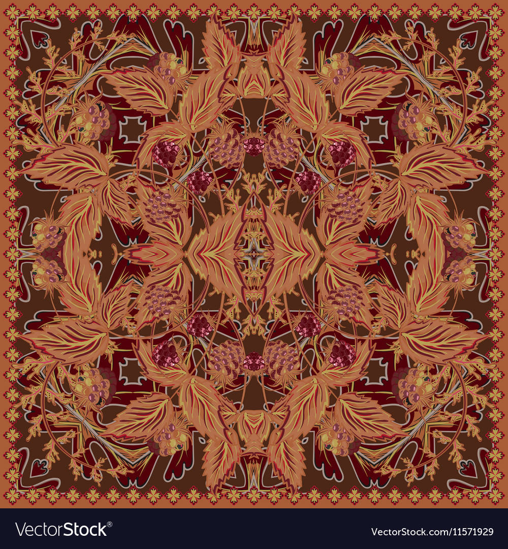 Design for tablecloth shawl textile pocket vector image