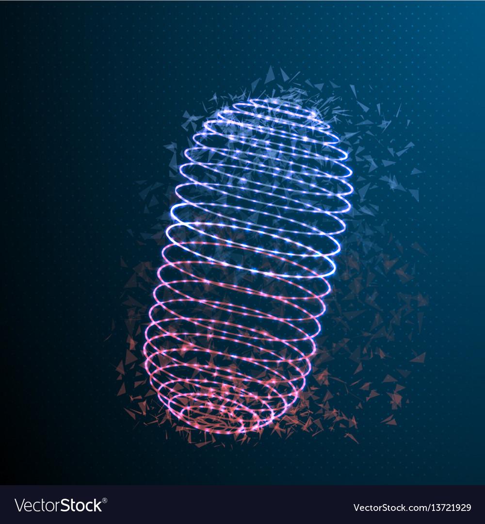 Medicine pill polygonal cylinder vector image