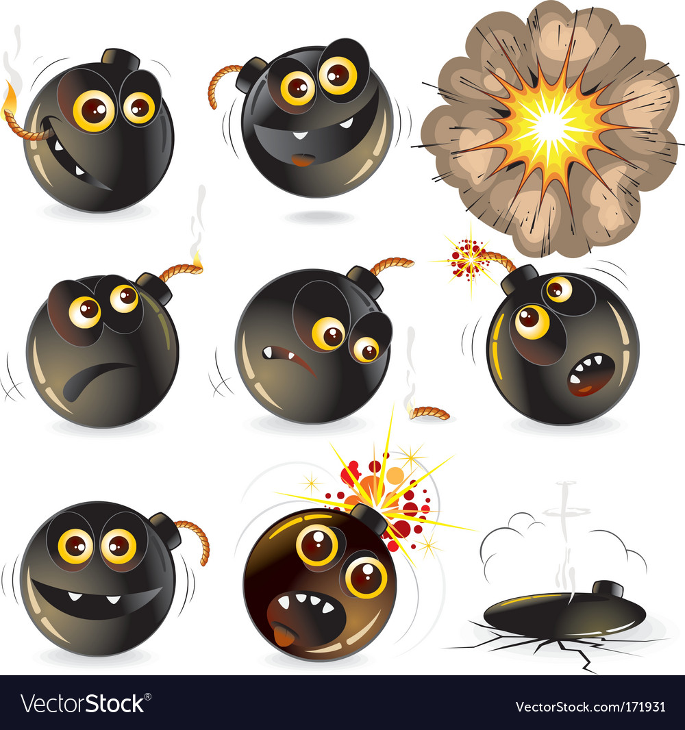 Funny bomb vector image