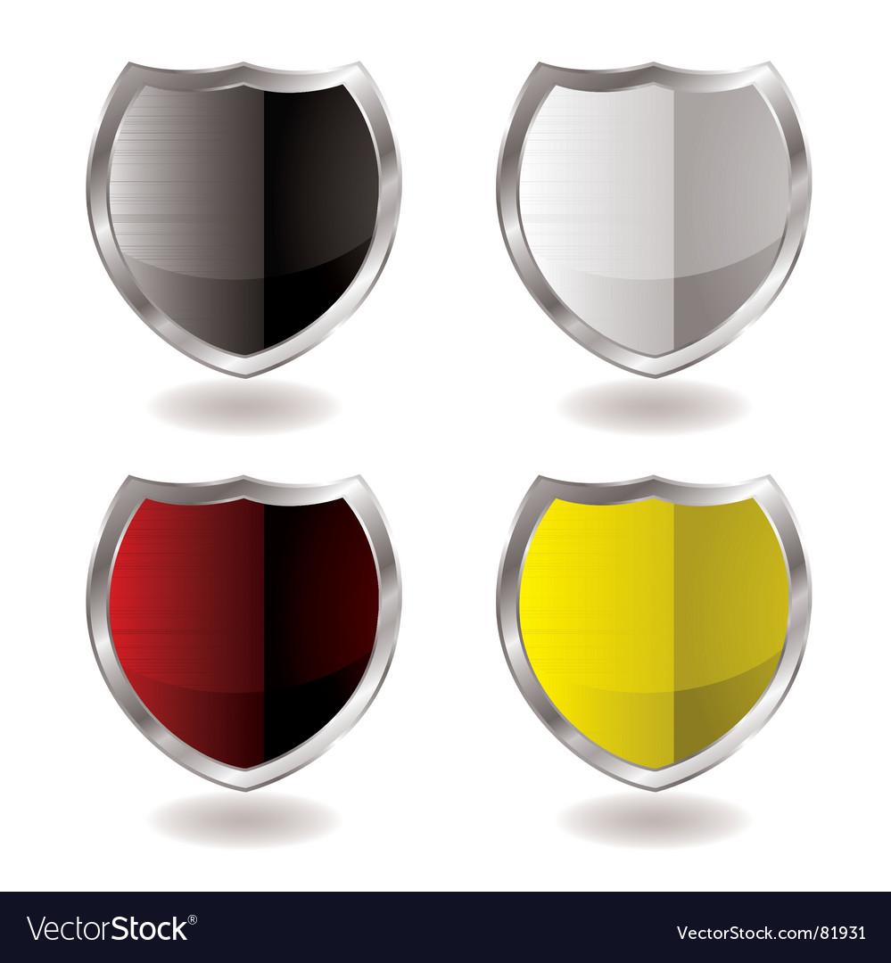 Shield reflection vector image