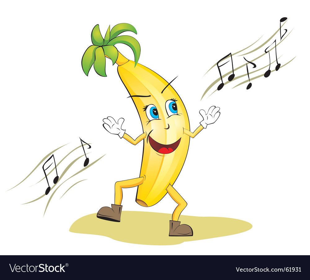 Dancing banana vector image