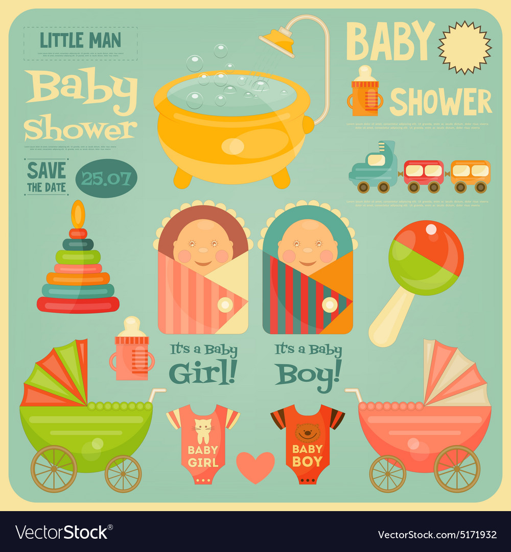 Baby Shower Poster vector image