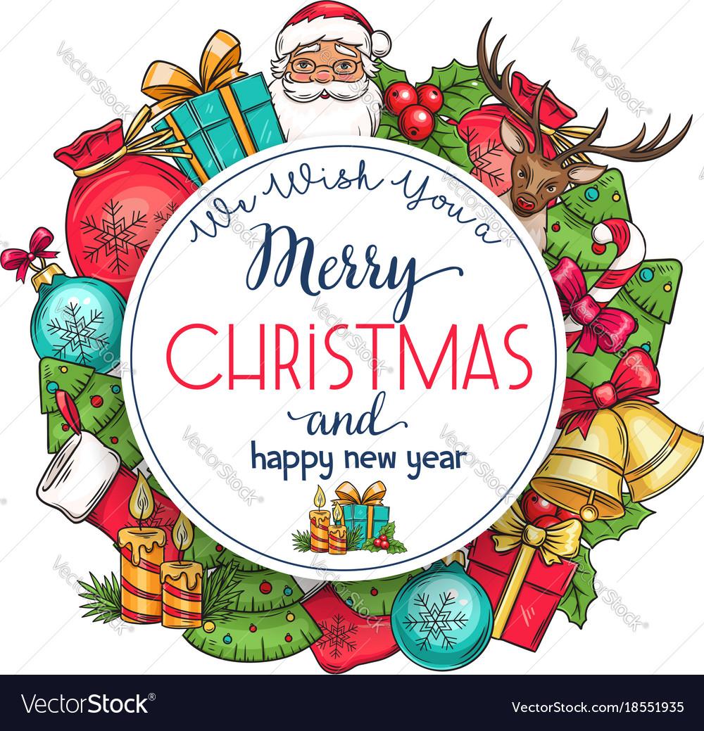 Merry christmas holidays greeting card royalty free vector merry christmas holidays greeting card vector image kristyandbryce Gallery
