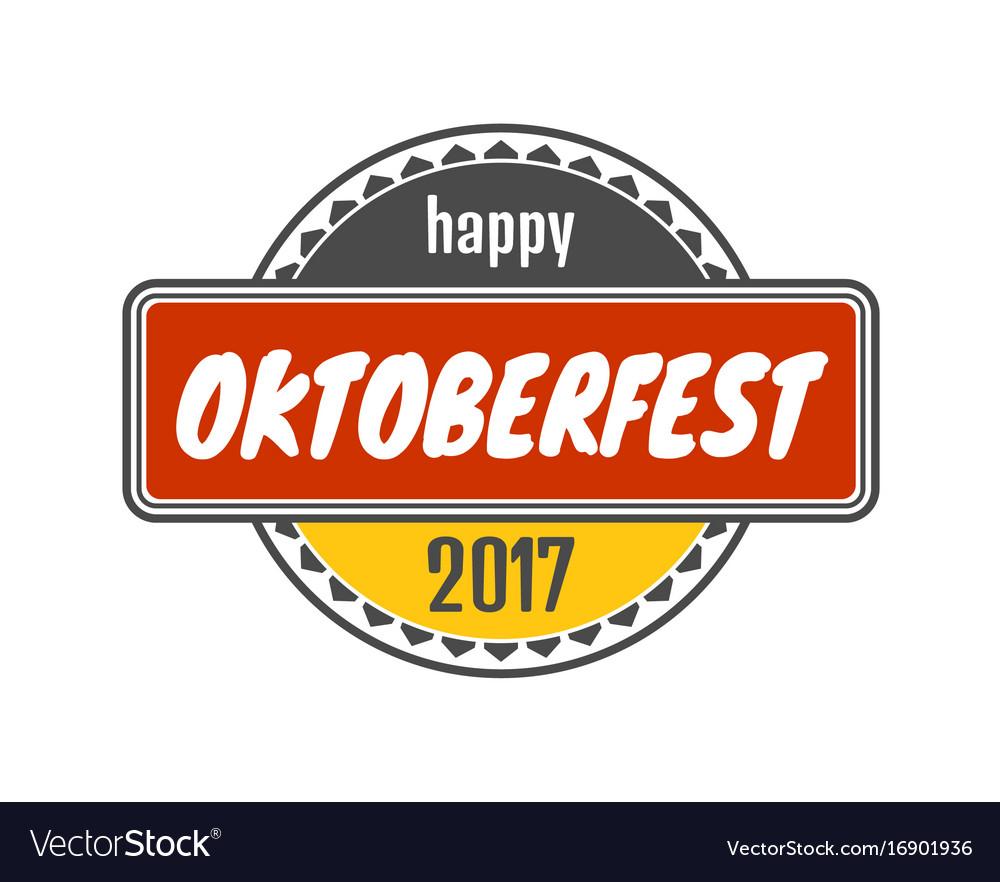 Oktoberfest stamp pattern vector image