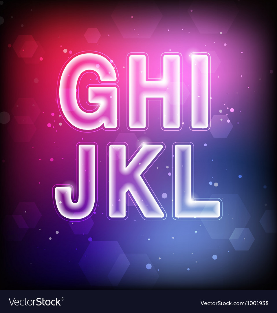 Abstract Font G-L vector image