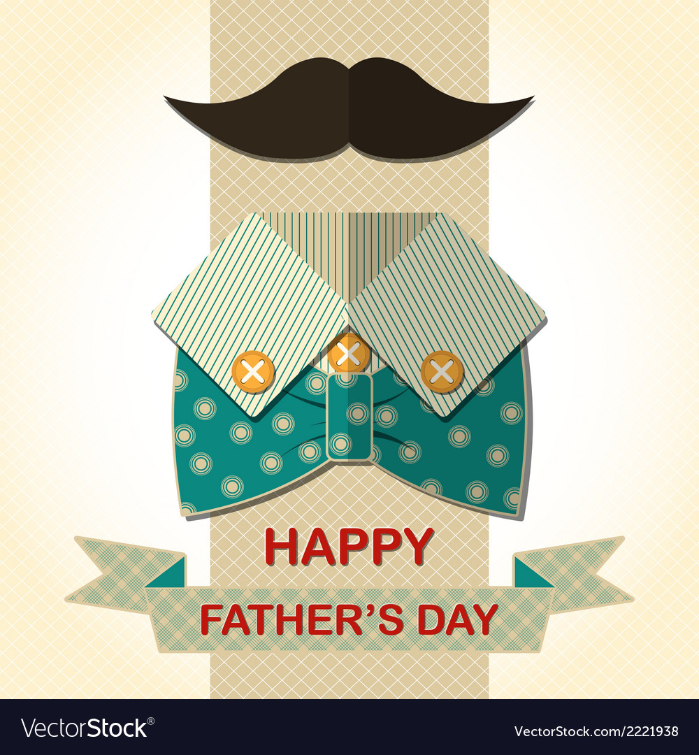 Fathers Day card Royalty Free Vector Image - VectorStock