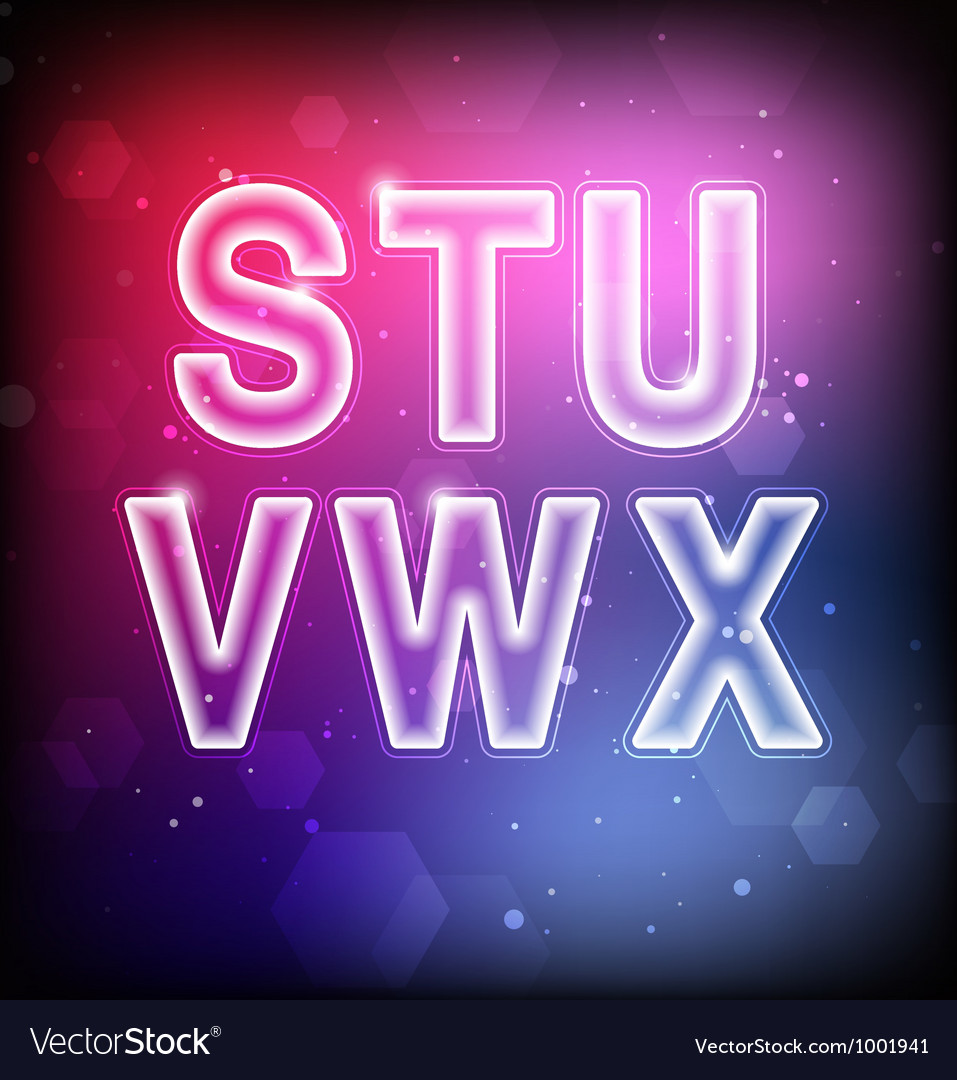 Abstract Font S-X vector image