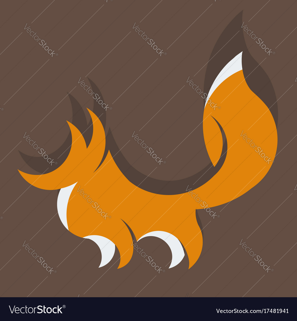 Fox detailed vector image