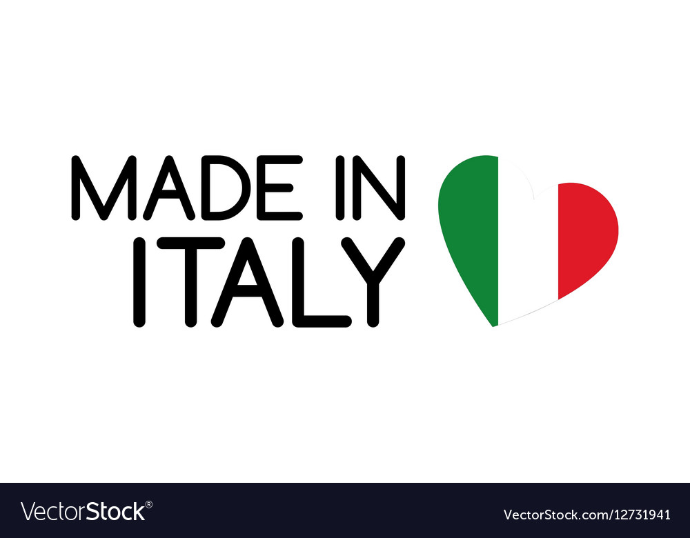 Made in Italy symbol with the heart vector image