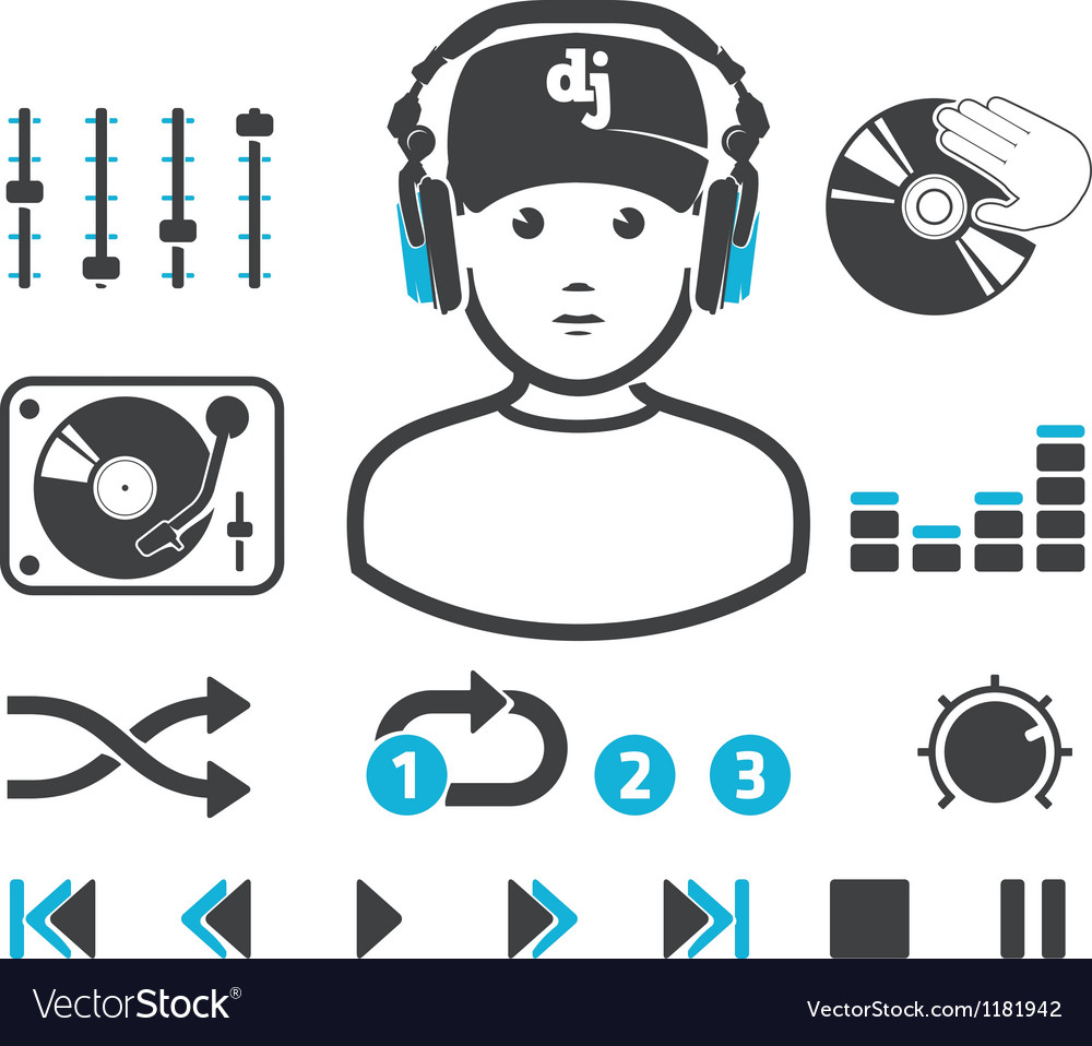 DJs set Vector Image