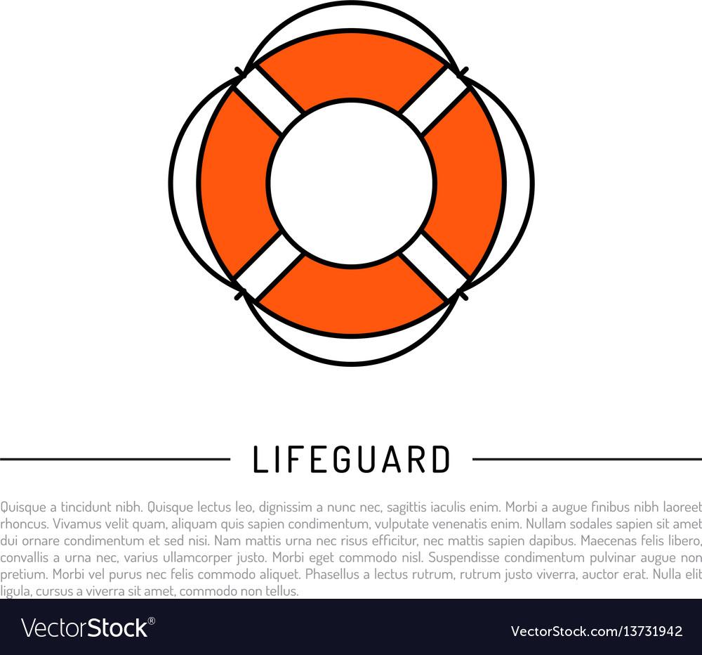 Flat icon lifebuoy vector image
