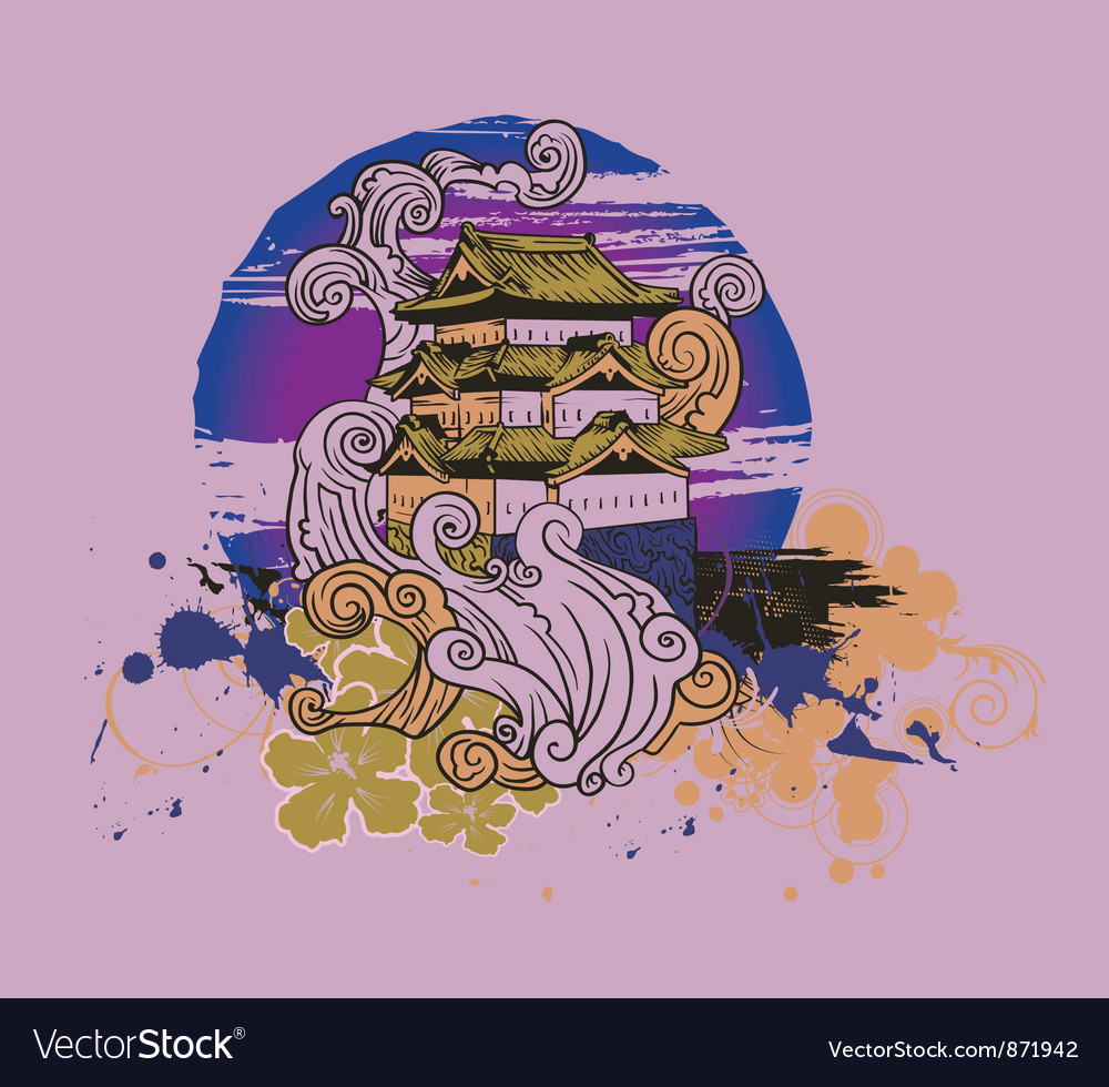 Japanese tshirt design vector image