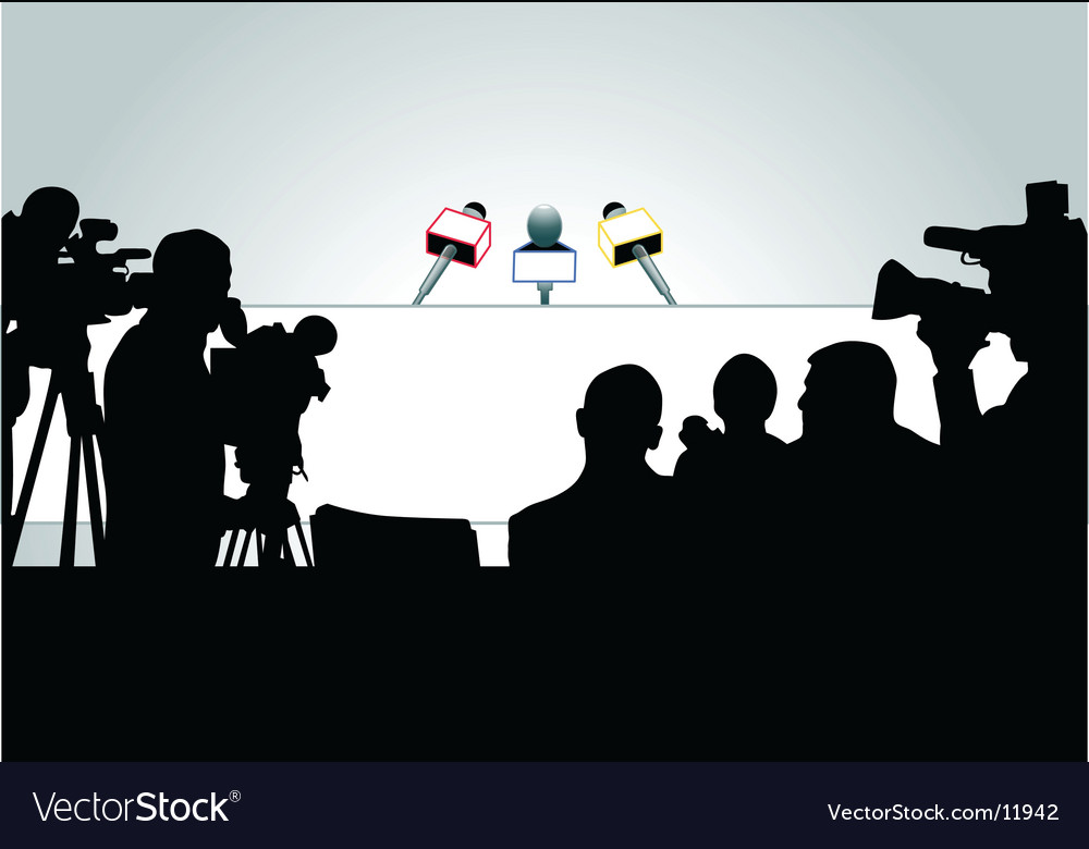 Media people silhouettes vector image