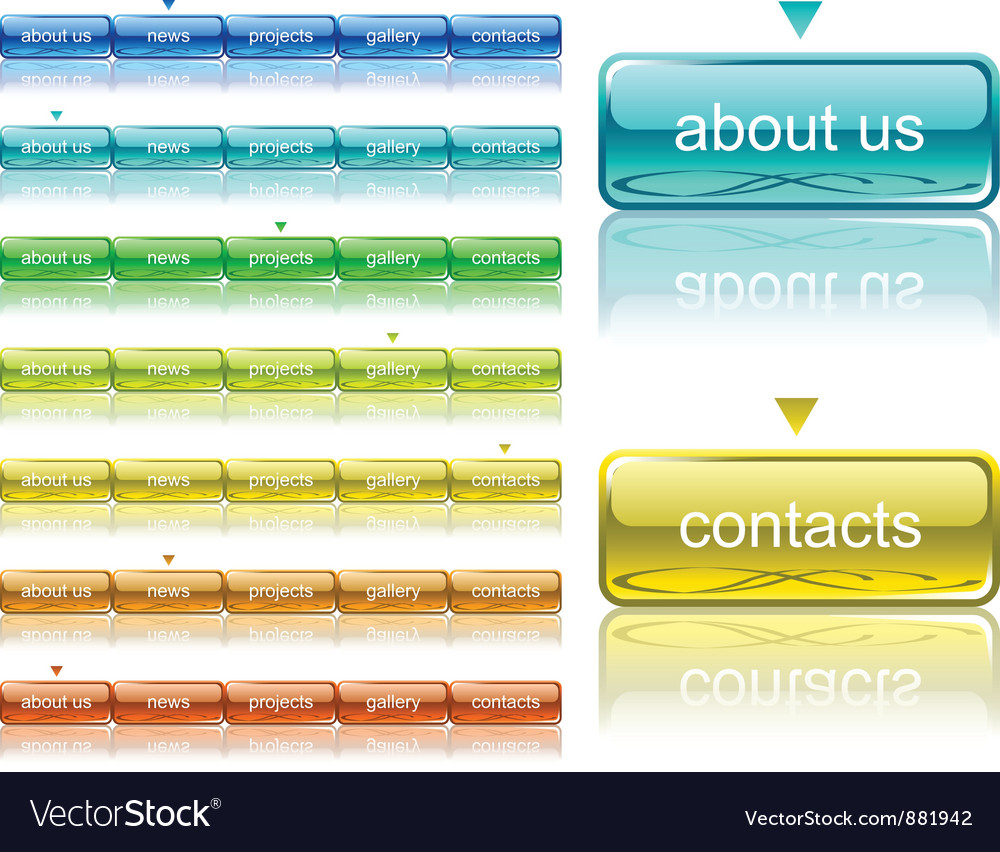 Web navigation template vector image