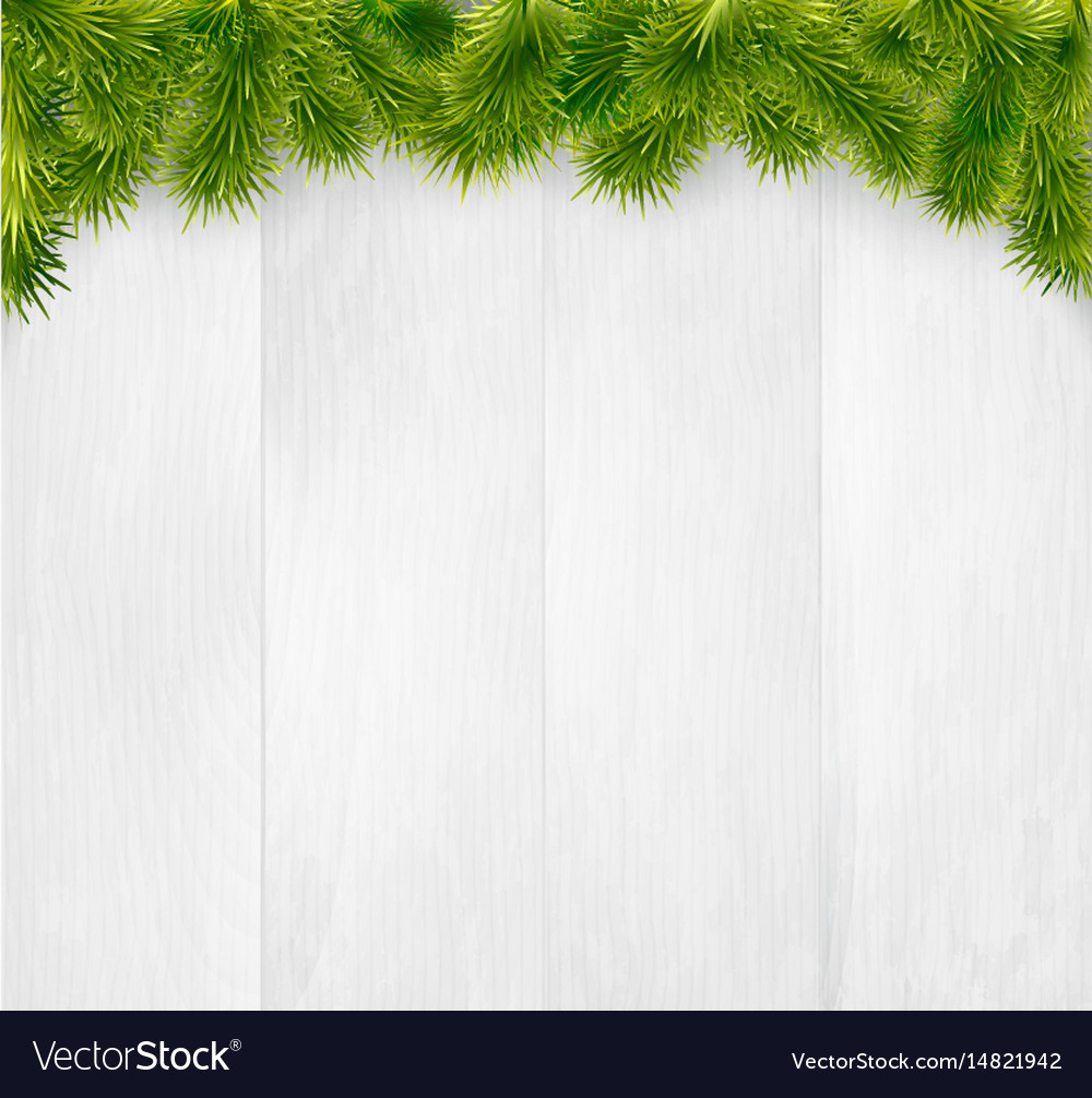 Winter christmas wooden background vector image