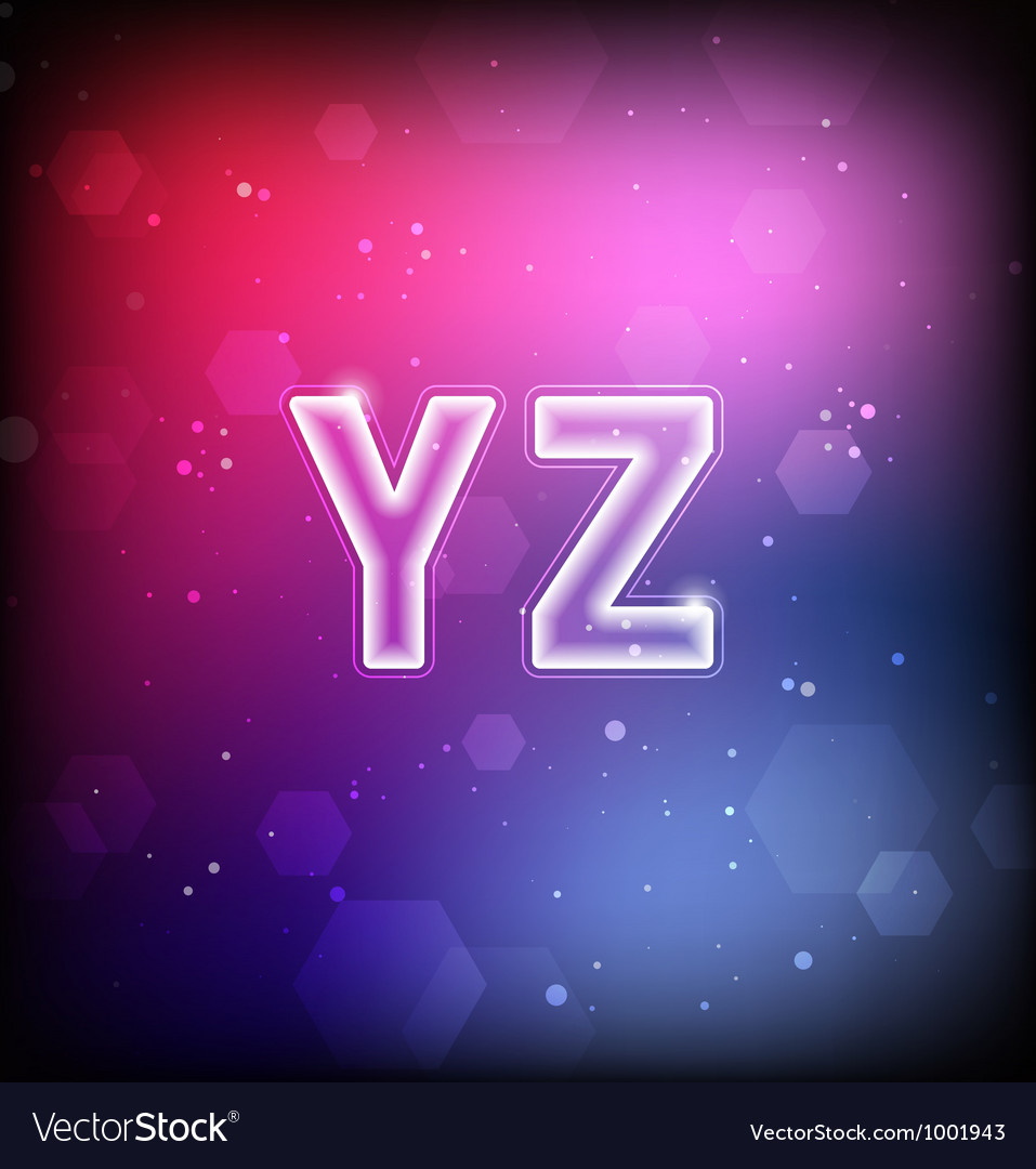 Abstract Font Y-Z vector image