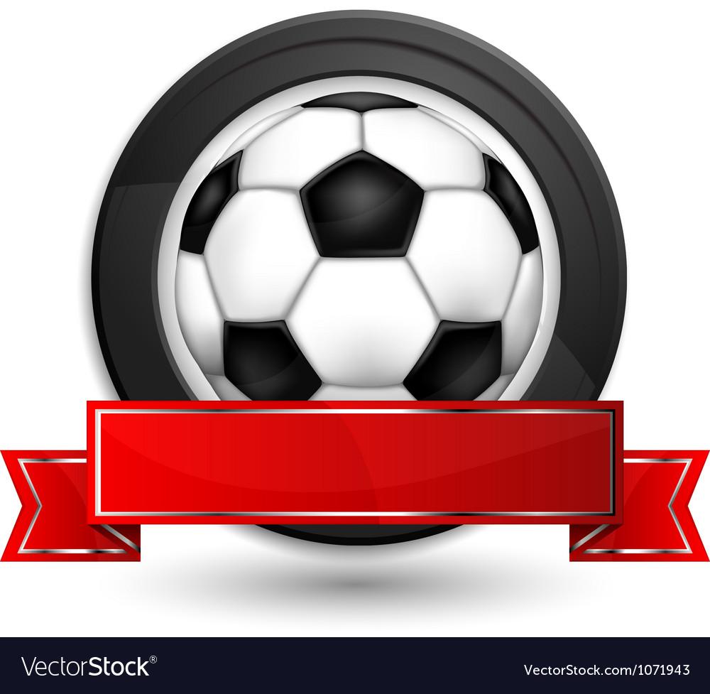 Labels ball shield vector image