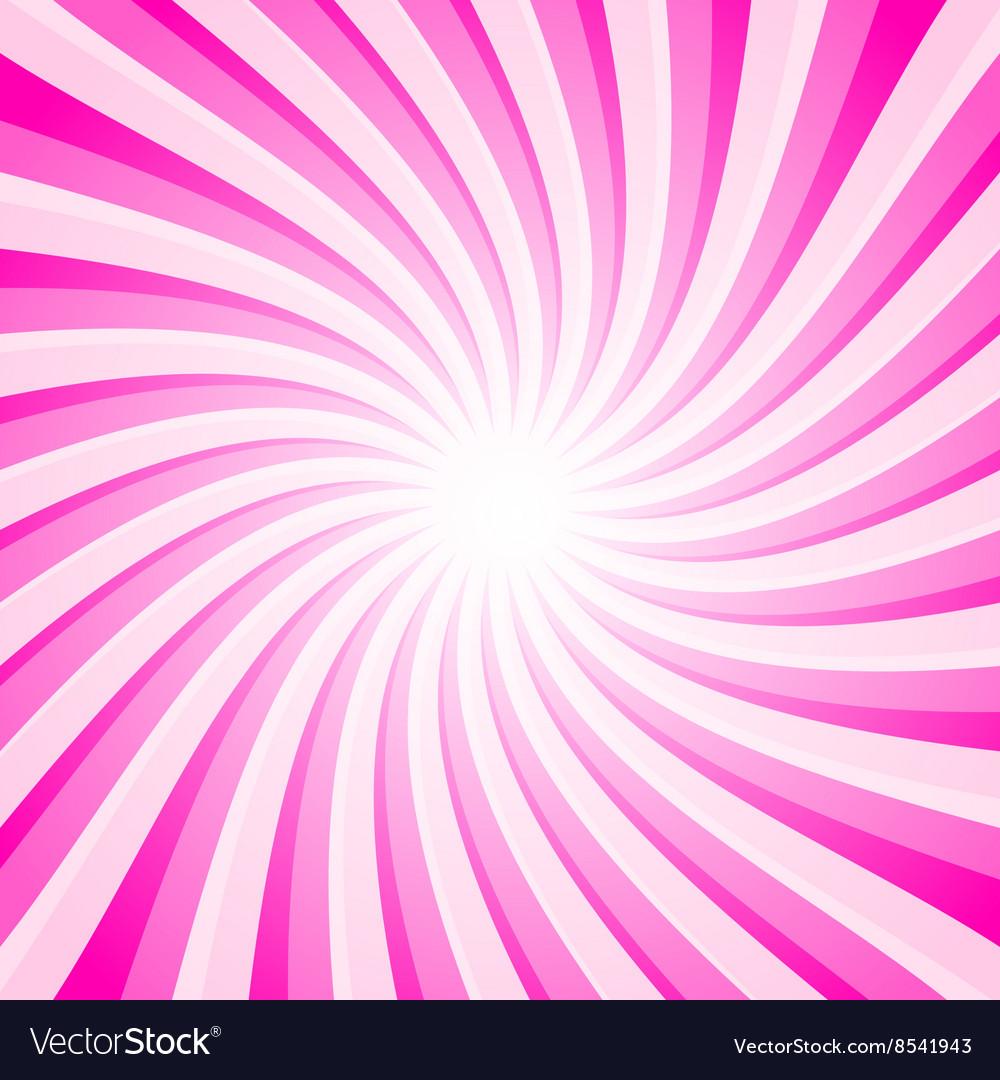 Pink Background - Spiral - Star Shape Pattern vector image
