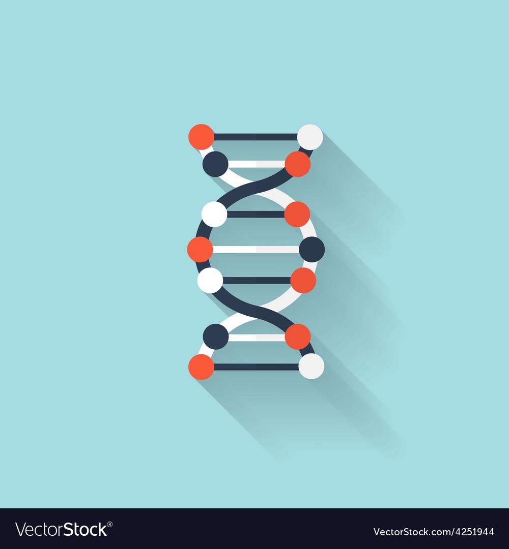 Flat dna icon chemical formula symbol health vector image flat dna icon chemical formula symbol health vector image buycottarizona
