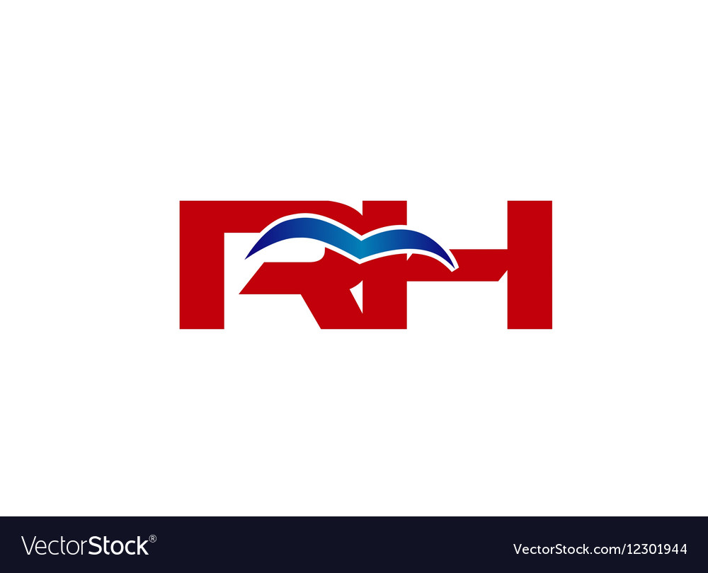 Letter HR h and r logo vector image
