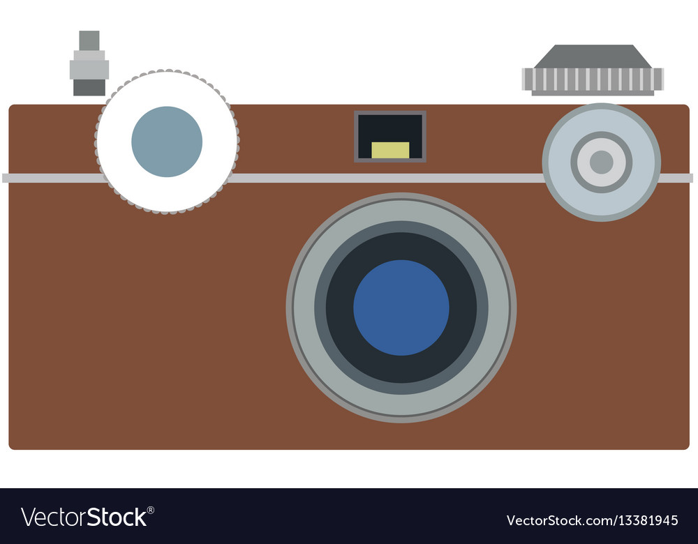 Photo camera flat icon symbol photographer vector image