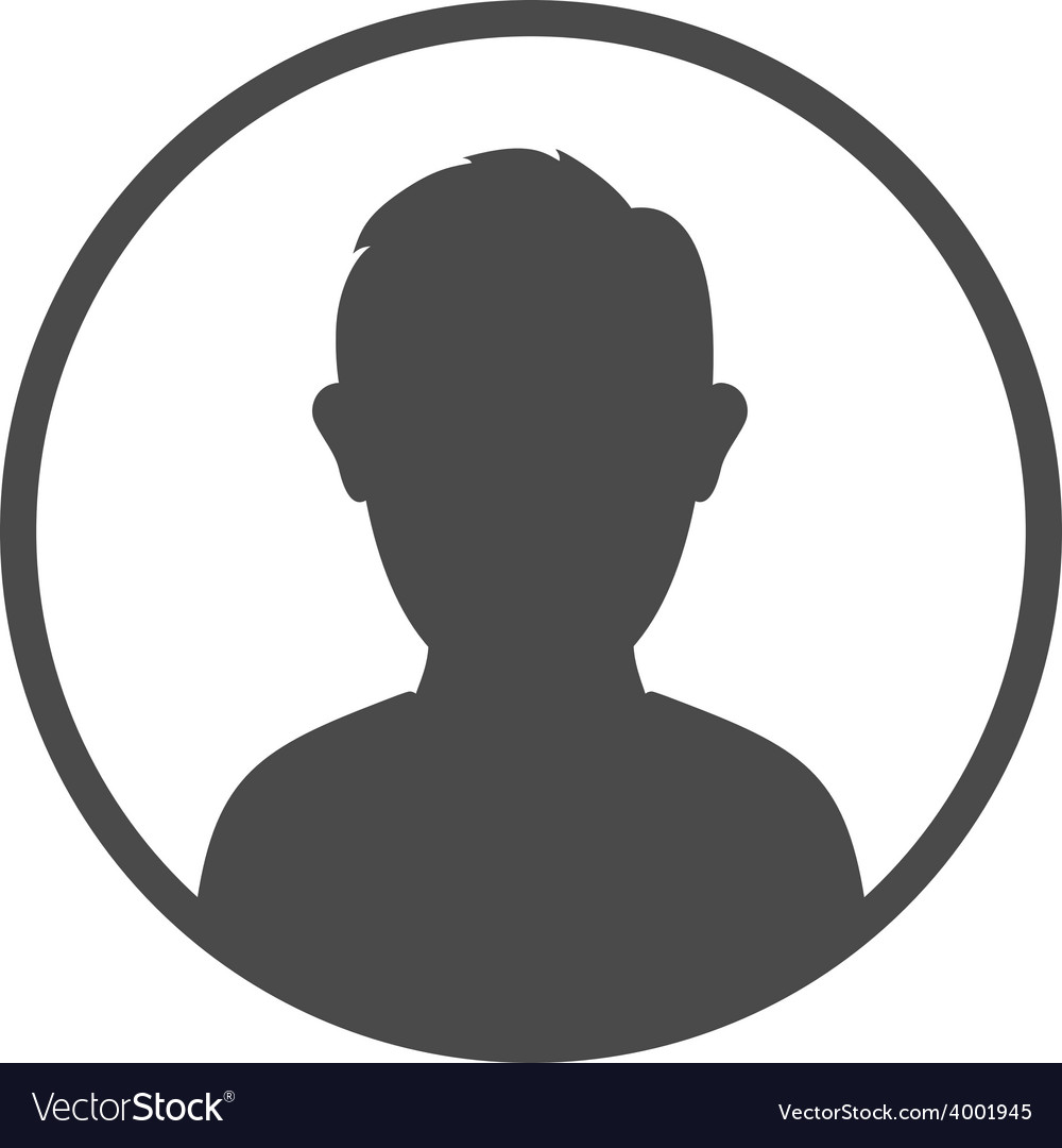 User avatar icon sign symbol vector image