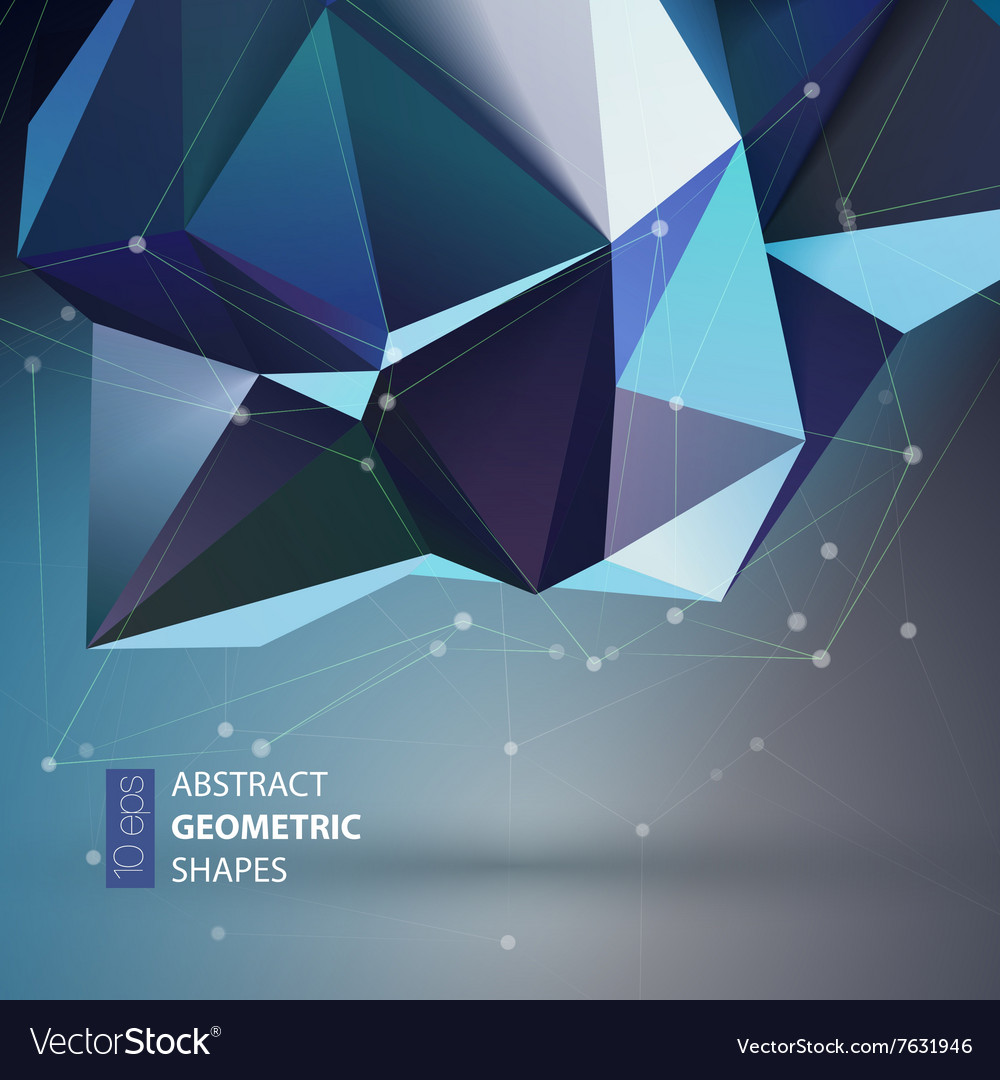 Bright blue Polygon geometry shape vector image